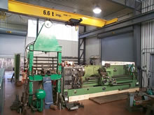 press lathe and crane